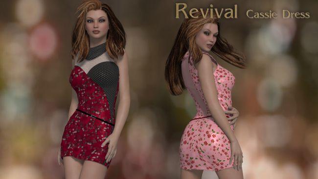 Revival for Cassie Dress V4_Poser