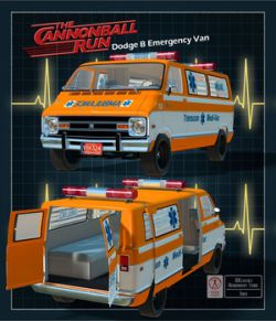 CANNON BALL VAN - for Poser