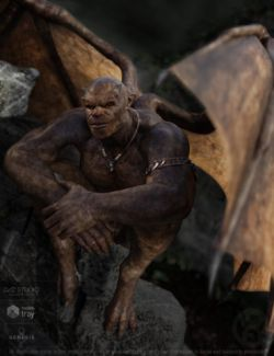 Gargoyle for Genesis 8 Male