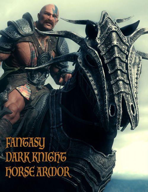 Fantasy Dark Knight Armor for DAZ Horse 2