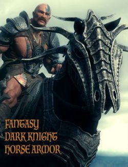 Fantasy Dark Knight Armor for DAZ Horse 2