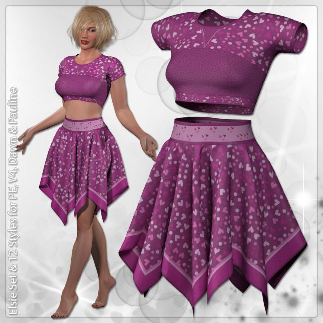 Elsie Set and 12 Styles for PE, V4, Dawn and Pauline