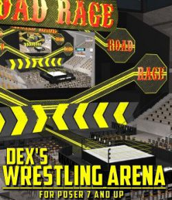 Dex's Wrestling Arena for Poser 7+