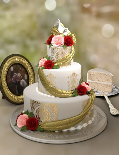 Classy Wedding Cake set