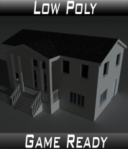 Low Poly House 10- Extended Licence
