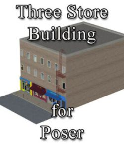 Three Store Building - for Poser
