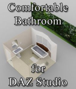 Comfortable Bathroom - for DAZ Studio