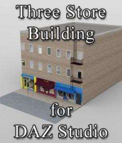 Three Store Building - for DAZ Studio