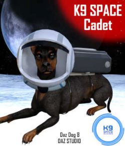 K9 SPACE CADET Outfit for Daz Dog 8 Doberman  - Daz Studio