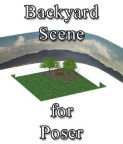 Backyard Scene - for Poser