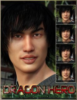Dragon Hero Mix And Match Expressions For Lee 8 And Genesis 8 Male(s)
