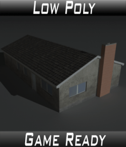 Low Poly House 11 - Extended License