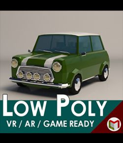 Low-Poly Cartoon City Car- Extended License