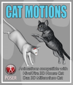 Cat Motions  for Poser