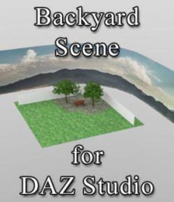 Backyard Scene - for DAZ Studio