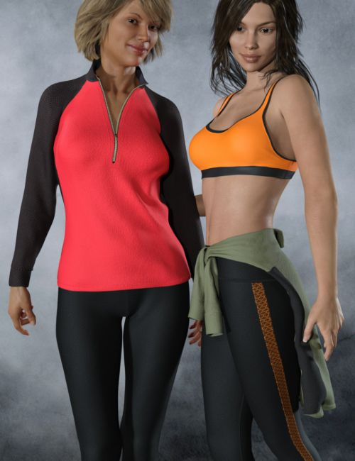 dForce Tek Athletic Apparel for Genesis 3 and 8 Female(s)