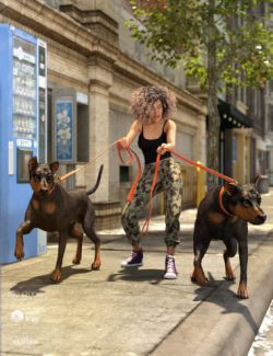 Walk the Dog 8 Poses for Genesis 8