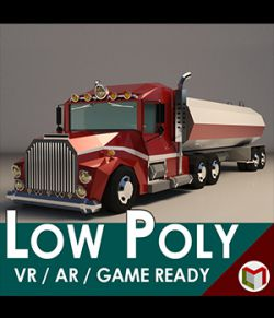Low-Poly Cartoon Tank Truck - Extended License