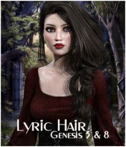 Lyric Hair for Genesis 3 and 8 females