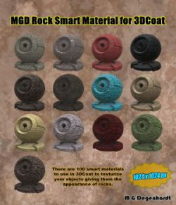 MGD Rock Smart Materials for 3DCoat