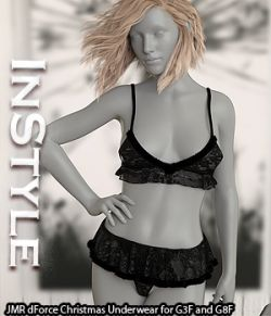 InStyle- JMR dForce Christmas Underwear for G3F and G8F