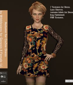 Autumn for CoZee Dress for Genesis 8 Females