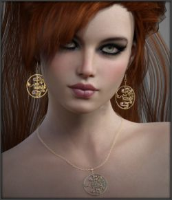 Black Magic Earrings and Necklace for G3F and G8F