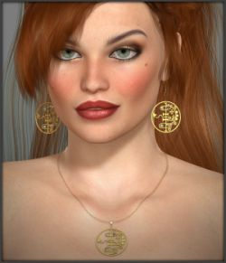 Black Magic Earrings and Necklace for V4