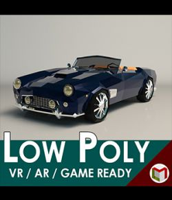 Low-Poly Cartoon Roadster- Extended License