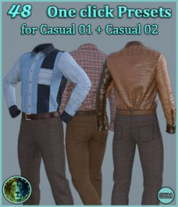 48 One click Presets for Casual 01 and Casual 02