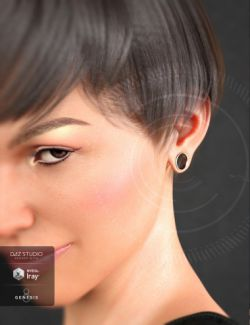 Gauged Ears for Genesis 8 Female(s)