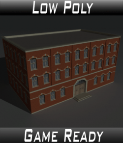 Low Poly Factory Building 4- Extended Licence