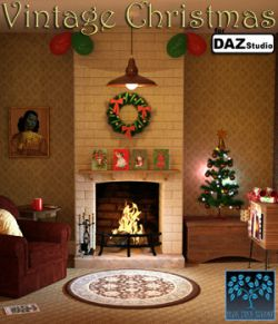 Vintage Christmas for Daz Studio