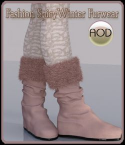Fashion: SpicyWinter Furwear Boots&Leggings G3G8