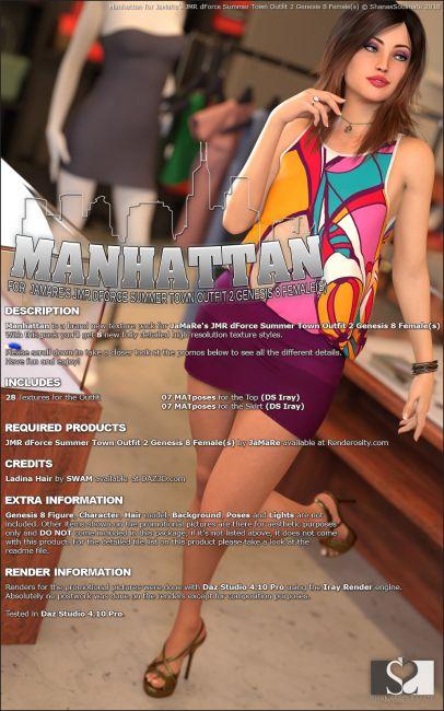 Manhattan for JMR dForce Summer Town Outfit 2 Genesis 8 Females