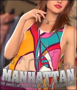 Manhattan for JMR dForce Summer Town Outfit 2 Genesis 8 Females