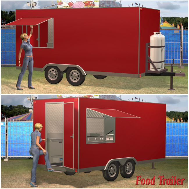 Food Trailer Set