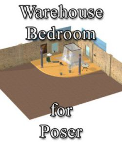 Warehouse Bedroom - for Poser