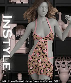 InStyle - JMR dForce Knitted Halter Dress for G3F and G8F