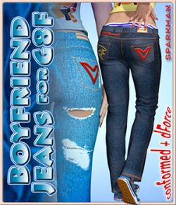 dForce Boyfriend Jeans for Genesis 8 Female