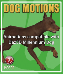 Dog Motions for Poser