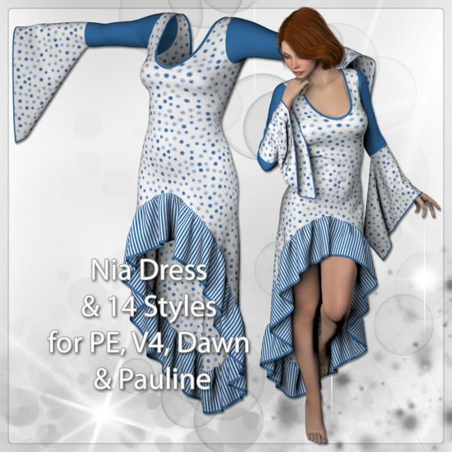 Nia Dress and 14 Styles for PE, V4, Dawn and Pauline