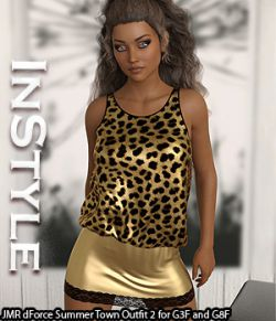 InStyle- JMR dForce Summer Town Outfit 2 for G3F and G8F