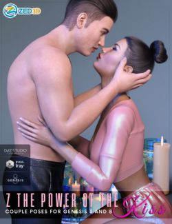 Z The Power of The Kiss Romantic Poses for Genesis 3 and 8