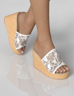 Wedge Sandals for Genesis 8 Female(s)