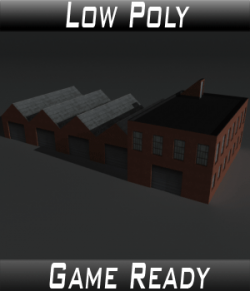 Low Poly Factory Building 8 - Extended Licence