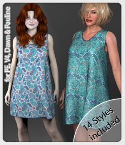 Lill Dress and 14 Styles for PE, V4, Dawn and Pauline