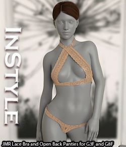 InStyle - JMR Lace Bra and Open Back Panties for G3F and G8F