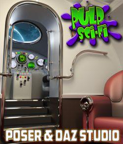 Pulp Sci-Fi Spaceship