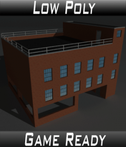 Low Poly Factory Building 10 - Extended Licence